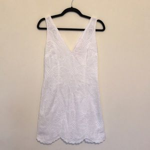 Lilly Pulitzer Size 4 White Patterned Dress
